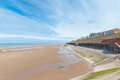 Blackpool seaside in england uk as viewed from the central pier Royalty Free Stock Photography