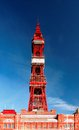 Blackpool tower is an iconic landmark and tourist attraction in the lancashire seaside town of in northwest england it Stock Photography