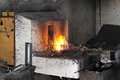 Blacksmith forge high temperature fire pit Royalty Free Stock Photography