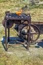 Blacksmith forge used in medieval era Royalty Free Stock Photo