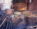 Blacksmith metal workshop Royalty Free Stock Image