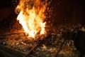 Blacksmith oven fire Royalty Free Stock Photo