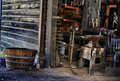 Blacksmith `s tools in shop Royalty Free Stock Photography