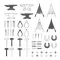 Blacksmith tools Royalty Free Stock Photo