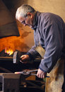 Blacksmith at work Royalty Free Stock Photo