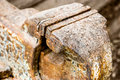 Blacksmiths vice closeup old rusty all steel grip Royalty Free Stock Photo