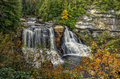 Blackwater Falls In Autumn Royalty Free Stock Photo