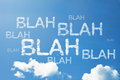 Blah Blah Blah a cloud word on sky Royalty Free Stock Photo