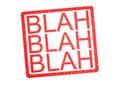 BLAH BLAH BLAH Rubber Stamp Royalty Free Stock Photo