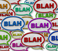 Blah - Speech Bubble Background Royalty Free Stock Photo