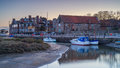 Blakeney quay in north norfolk on a cold morning sunrise Stock Photos