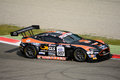 Blancpain gt series racing aston martin vantage at monza solaris motorsport team faces the first race of the italian championship Stock Images