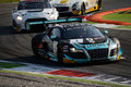 Blancpain series audi r lms ultra at monza gt the first chicane of endurance belgian club team wrt car nr was driven by Royalty Free Stock Photos