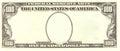 Blank 100 Dollar Bill Portrait Side Royalty Free Stock Photo