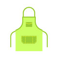 Blank apron isolated vector.