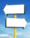Blank arrow sign board Royalty Free Stock Photo