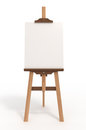 Blank art board, easel, with clipping path Stock Photos