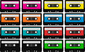 Blank audio tape cassettes Stock Image