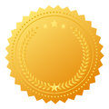 Blank award medal vector gold Stock Images