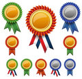 Blank award ribbon rosettes. Royalty Free Stock Images