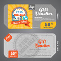 Blank of back to school gift voucher vector illustration to increase sales against the background of the poster back to school sal Royalty Free Stock Photo