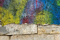 Blank background for your text. The texture of a grunge old street on the facade wall with cracked paint Royalty Free Stock Photo