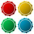 Blank badge shapes set Royalty Free Stock Photo