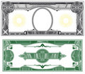 Blank banknote layout Stock Photos