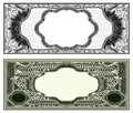 Blank banknote layout Royalty Free Stock Photo