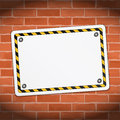 Blank banner on brick wall illustration of Royalty Free Stock Image