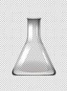 Blank beaker on transparent background