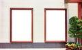 advertising blank billboard Royalty Free Stock Photo