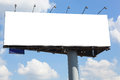 Blank billboard on blue sky background Royalty Free Stock Photo