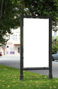 Blank billboard clipping path included Royalty Free Stock Photography