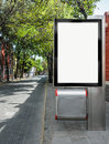 Blank billboard street ready for your advertisement Stock Images