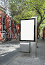 Blank billboard street ready for your advertisement Royalty Free Stock Photos