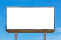 Blank billboard useful for your advertisement Royalty Free Stock Photography