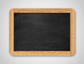 Blank black chalkboard. Background and texture. Royalty Free Stock Photo