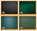 Blank blackboard Royalty Free Stock Photos