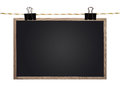 Blank blackboard hanging rope Royalty Free Stock Image