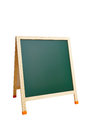 Blank blackboard isolated on white with clipping paths green Stock Image