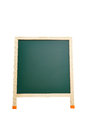 Blank blackboard isolated on white with clipping paths green Royalty Free Stock Photography