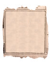 Blank block of old newspaper advertise on white background Royalty Free Stock Images