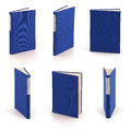 Blank blue books - clipping path Royalty Free Stock Photos