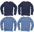Blank blue long sleeve shirts Royalty Free Stock Photo