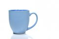 Blank blue mug on a white background Royalty Free Stock Photo
