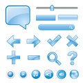 Blank Blue website button Icon Symbol Vector Royalty Free Stock Photo
