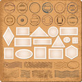Blank borders and grunge rubber stamps Royalty Free Stock Photo