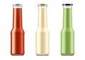 Blank bottles for sauces