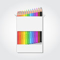Blank box with pencils Royalty Free Stock Photo